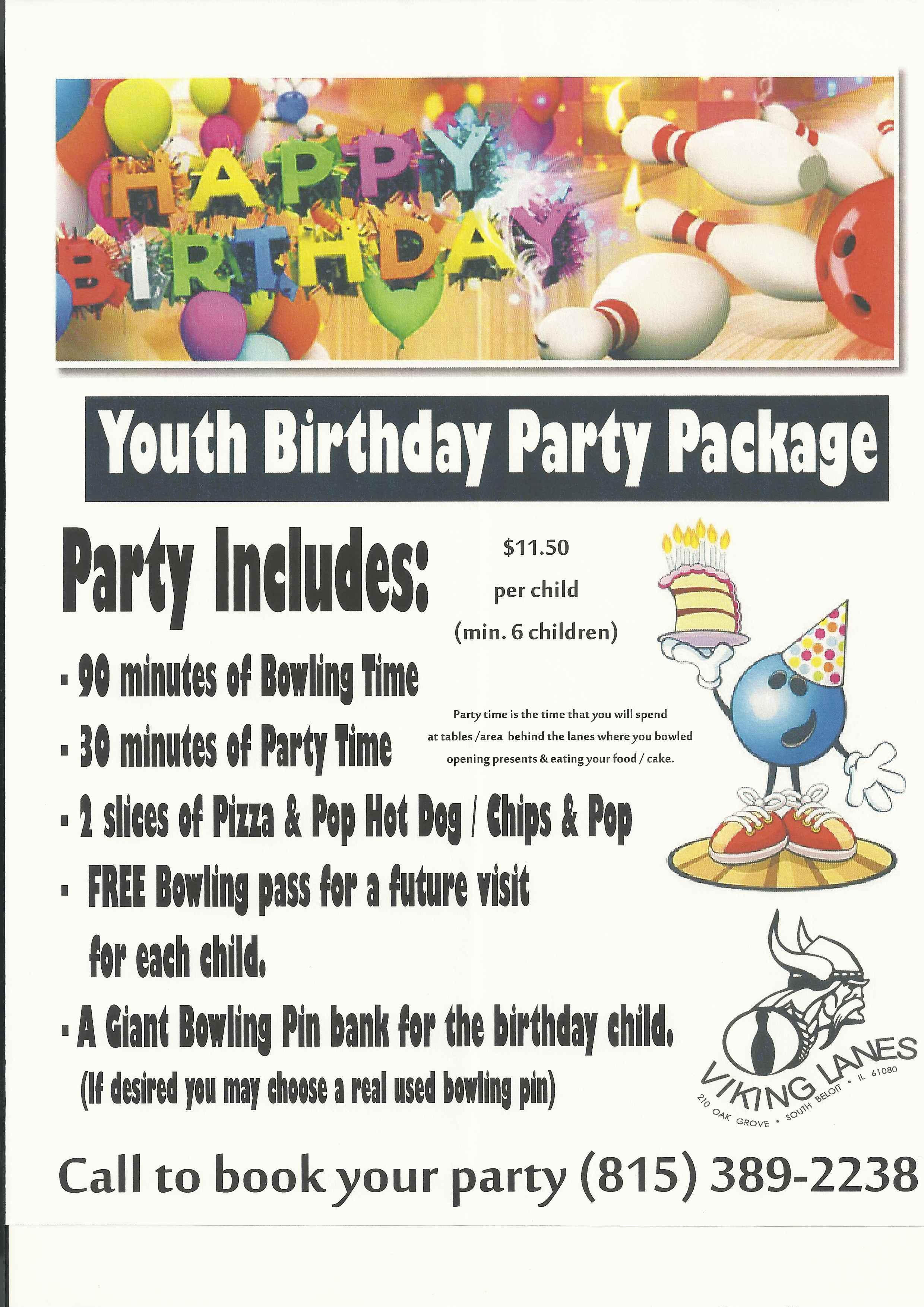 Kids Birthday Party Ideas | Birthday Parties | Viking Lanes